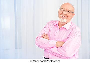 positive senior man