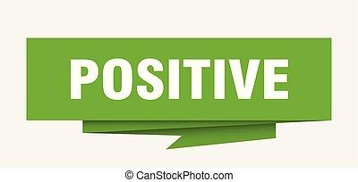 positive sign. positive paper origami speech bubble....