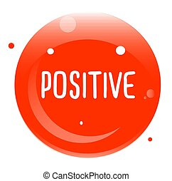 POSITIVE stamp isolated on white