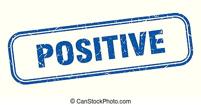 positive stamp. positive square grunge sign. positive