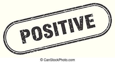 positive stamp. positive square grunge sign. positive