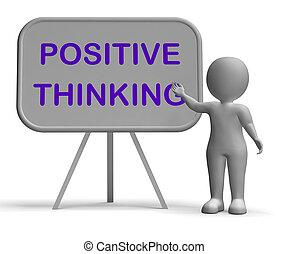 Positive Thinking Whiteboard Meaning Optimism Hopefulness And Good Attitude