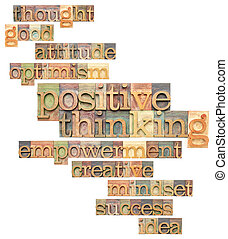 positive thinking word cloud - positive thinking and related...