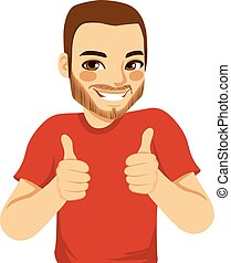 Positive Thumbs Up Man