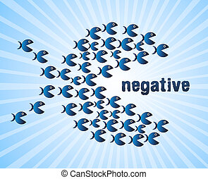 Positive Versus Negative Fish Depicting Reflective State Of...
