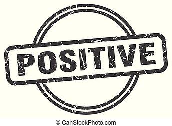 positive vintage stamp. positive sign