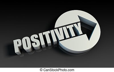 Positivity Concept With an Arrow Going Upwards 3D