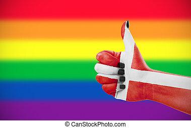 positivo, atteggiamento, Danimarca, comunità,  lgbt