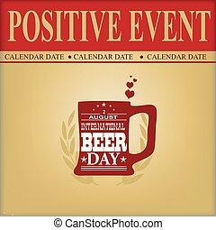 positivo, birra, evento, giorno