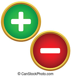 positivo, e, negativo, botões