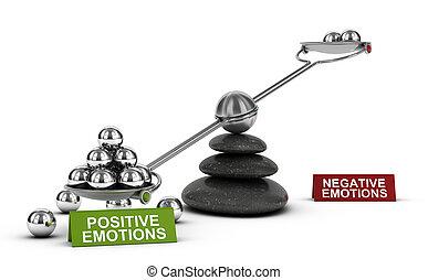 positivo, emociones, y, sano, emocional, bienestar,...