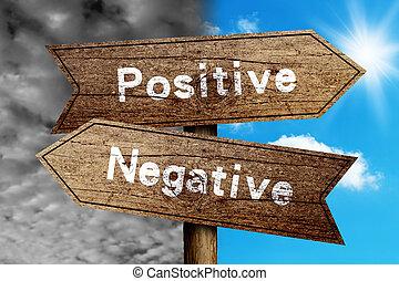 positivo, o, negativo