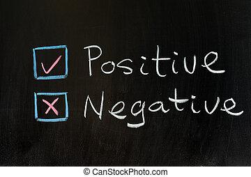 positivo, ou, negativo