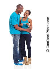 positivo, pareja, embarazo, norteamericano, prueba, hogar,  Afro