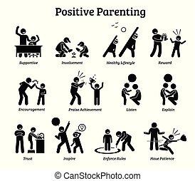 positivo, parenting, niño, upbringing.