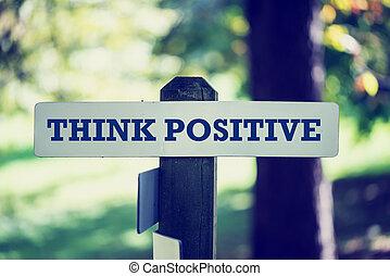 positivo, pensare