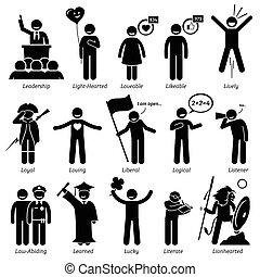 positivo, personalidades, actitud