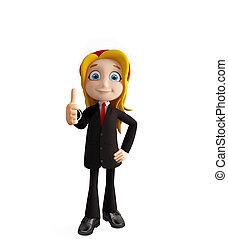 positur, tommelfingre oppe, businesswomen