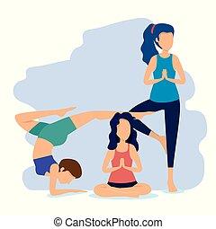 posizione, esercizio idoneità, donne