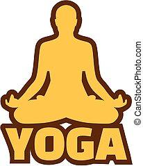posizione, meditazione, yoga