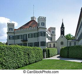 Possenhofen Castle in sunny ambiance - pictorial castle...