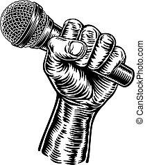 possession main, microphone