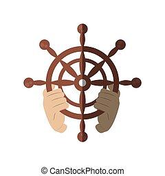 barre bateau roue vieux isol illustration vecteur clipart vectoriel rechercher. Black Bedroom Furniture Sets. Home Design Ideas