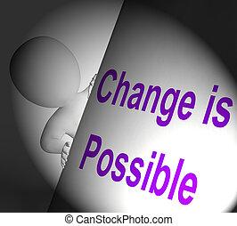 possibile, segno, cambiamento, mostre, migliorare, reforming