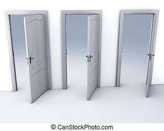 possibilités, porte ouverte, choix