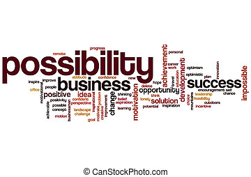 Possibility word cloud