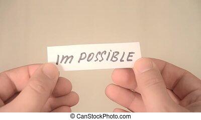 possible., niemożliwy, obraca