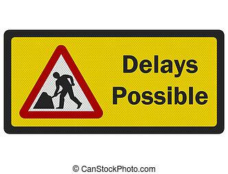 possible', señal, foto, aislado, realista, blanco, 'delays, camino