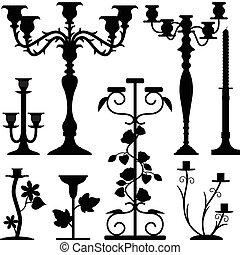 possuidor candlestick, antigas