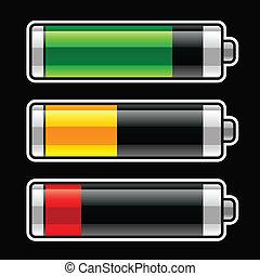 postęp, baterries, bar, energia