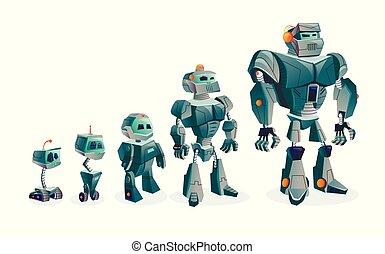 postęp, rozwój, roboty, techniczny