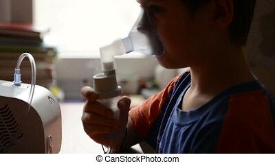 postępowanie, inhalacja, od, dziecko