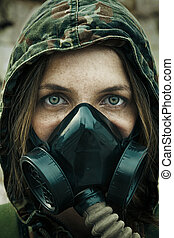 Post apocalypse female survivor - Post apocalypse. Female...