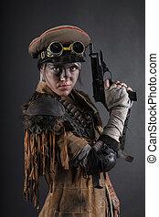 Post apocalypse female survivor - Nuclear post apocalypse...