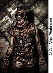post-apocalypse hero - Expressive steampunk over grunge...