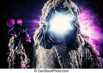 post-apocalypse - Post-apocalyptic futuristic character....
