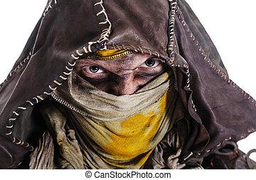 post apocalypse survivor closeup portrait - Nuclear post...