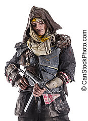 post apocalypse survivor with weapons. - Nuclear post...
