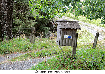 Post box at Kerikeri inlet in Northland New Zealand