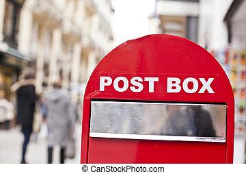 Post box in a street