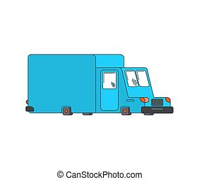 post car cartoon style. mail delivery car vector illustration