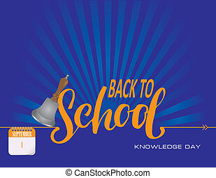 Calendar events of September - Congratulations for Knowledge Day