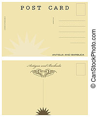 Post card in Antigua and Barbuda - Vintage post card in ...