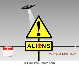 Post card UFO Day