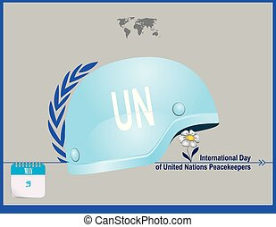 Post Card United Nations Peacekeepers - Calendar holiday of...