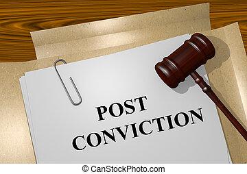 Post Conviction concept - Render illustration of Post...